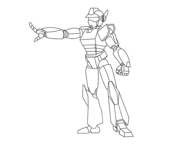 Mewarnai Robot Kecil Cara Menggambar Robot Selangkah Demi Selangkah